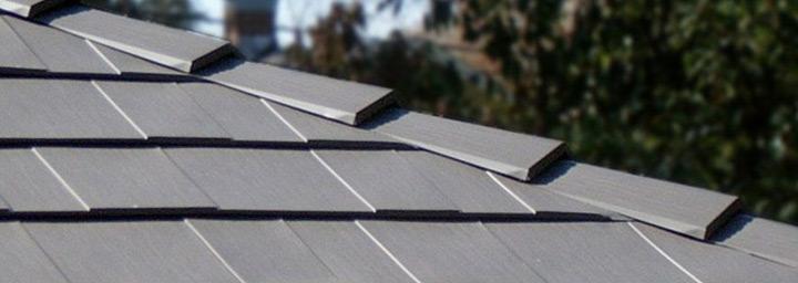Close up of an Aluminum Shingle